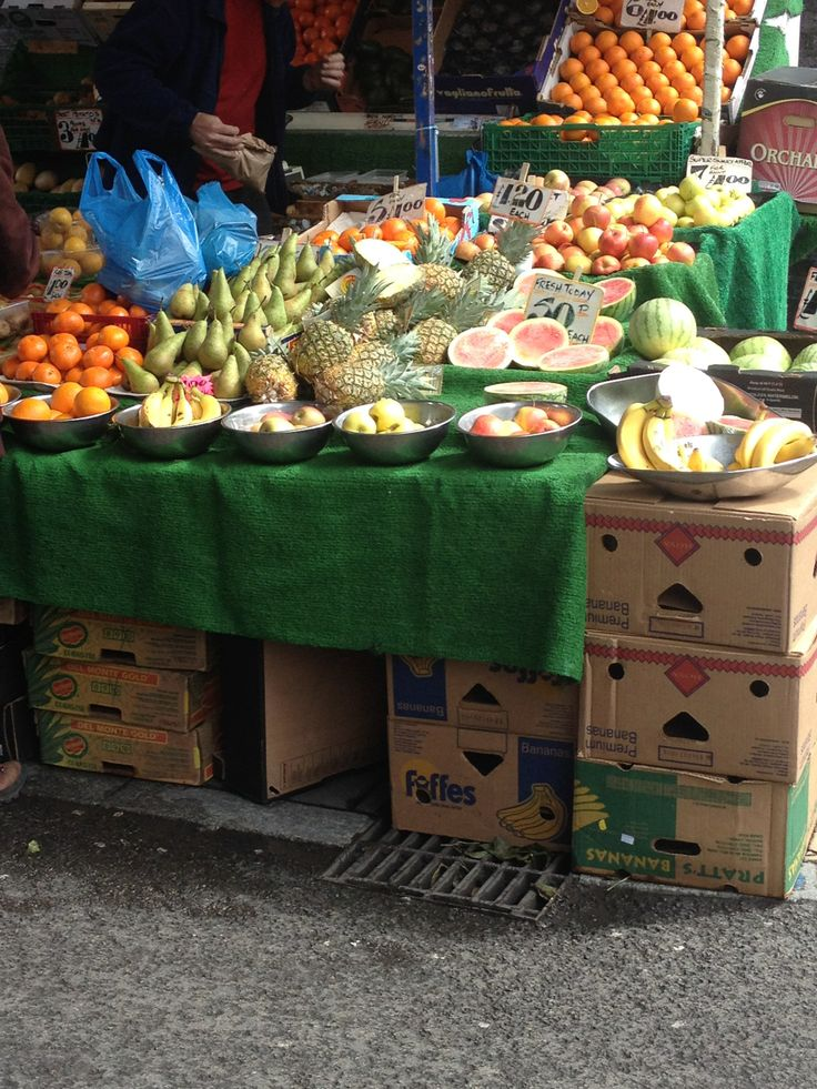 Fruit on a market stall