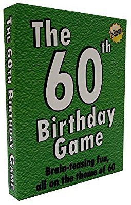 Amazon The 60th Birthday Game Fun New Party Idea Also Suitable As A Sixtieth Gift For Men Or Women Toys Games
