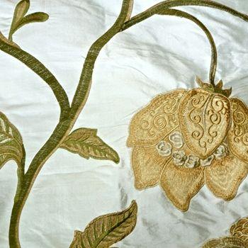 Ivory Dupioni Silk Magnolia Bronze