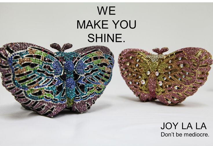 These butterfly formed clutches will make you shine! #joylala #dontbemediocre #wemakeyoushine