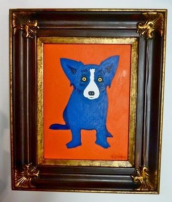 Blue Dog - Sun Kiss Orange - George Rodrigue