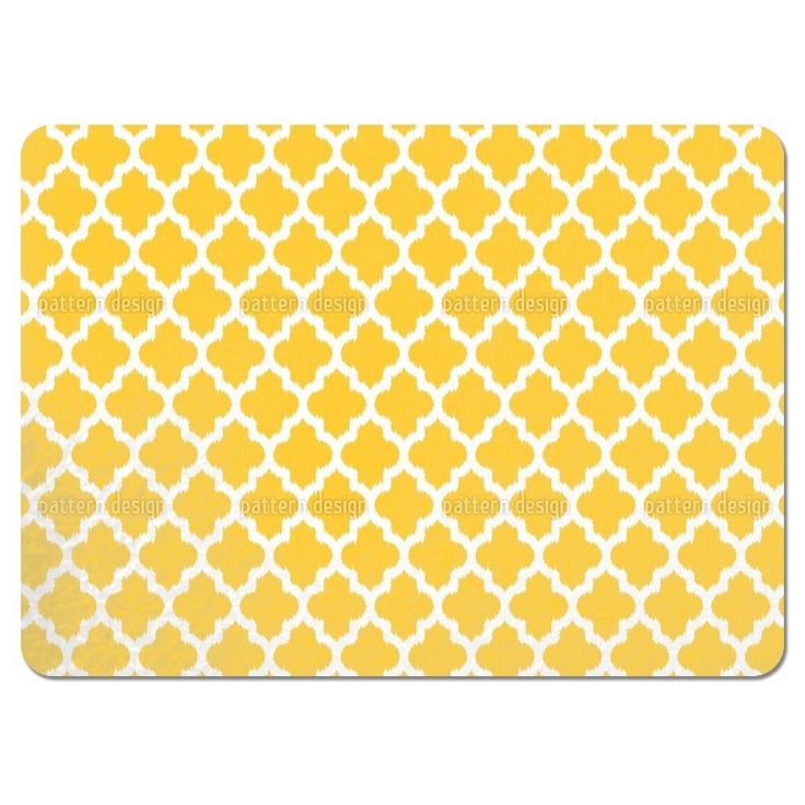 Uneekee Unique Ikat Yellow Placemats (Set of 4) (Unique Ikat Yellow Placemat) (Polyester, Geometric)