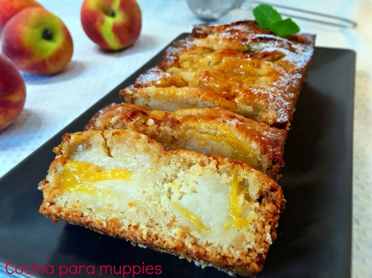#tarta #vegana de #melocoton