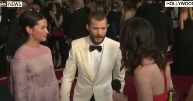 Jamie Sky News interview (part 3) #jamiedornan #AmeliaWarner #oscars