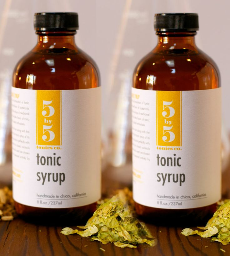 Tonic Syrup - Pack of 2 by Five by Five Tonics on Scoutmob Shoppe. Citrus peel and hops give this craft tonic its bite. Dangerous with whiskey.