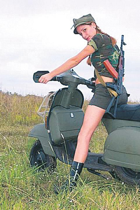 vespa scooter girl
