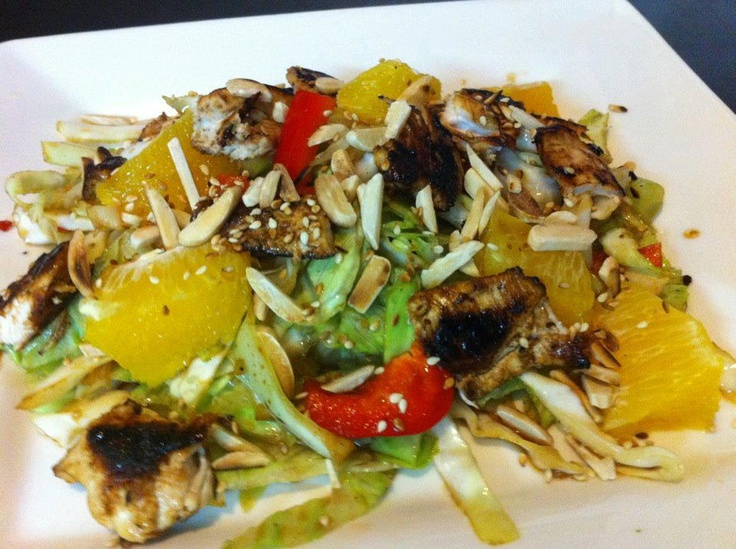 Chinese Chicken & Orange Salad!  Get the instructions here: http://www.facebook.com/photo.php?fbid=298328113575426=a.140579589350280.35621.118018038273102=3
