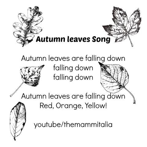 Super easy AUTUMN song and so lovely to act it out too! #autumn #fall #nurseryrhyme  Transform the kids into leaves and you become the wind. When you finish the song they all need to fall on the ground , that can be in a different way each time you sing the song!