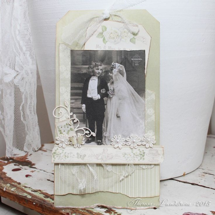 A gift tag with our new collection Vintage Wedding