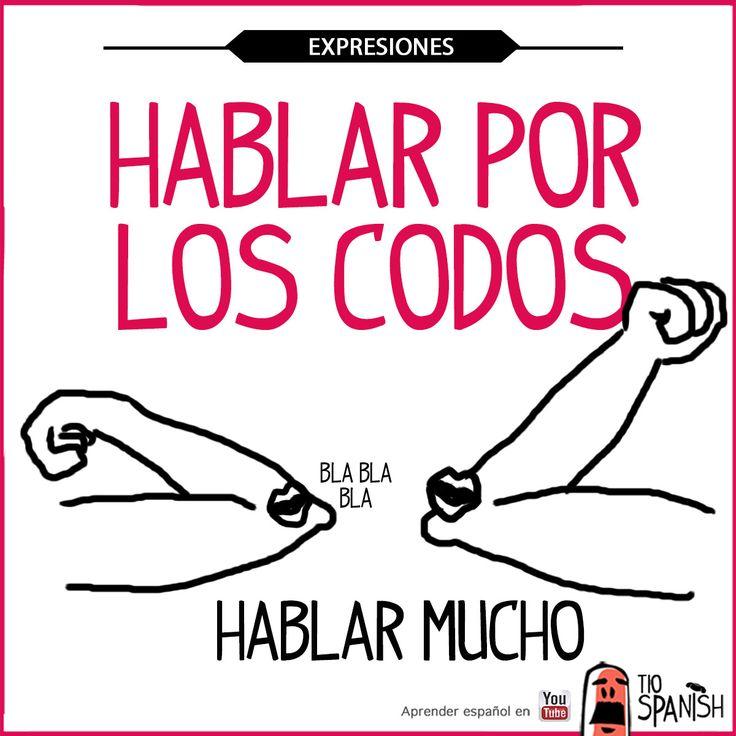 Aprender expresiones en español. Hablar por los codos, hablar mucho