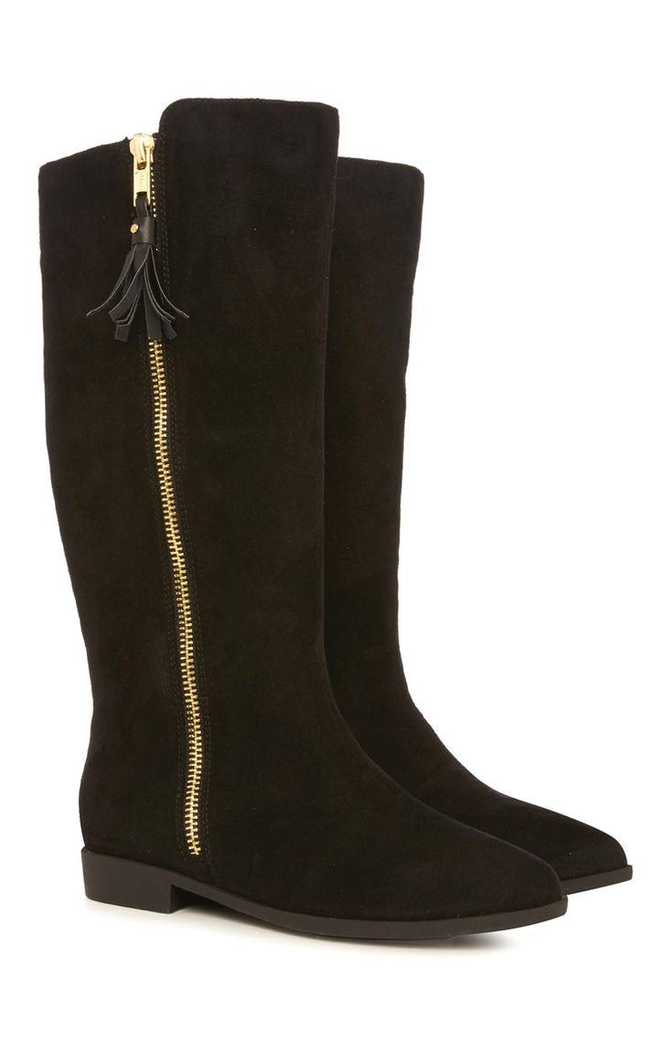 Primark - Zwarte laarzen met goudkleurige rits