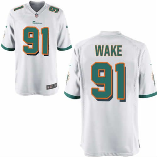 Cameron Wake Jersey Miami Dolphins #91 Youth White Limited Jersey Nike NFL Jersey Sale