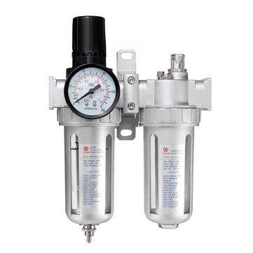 SFC400 1/2 Inch Air Compressor Oil Lubricator Moisture Water Trap Filter Regulator