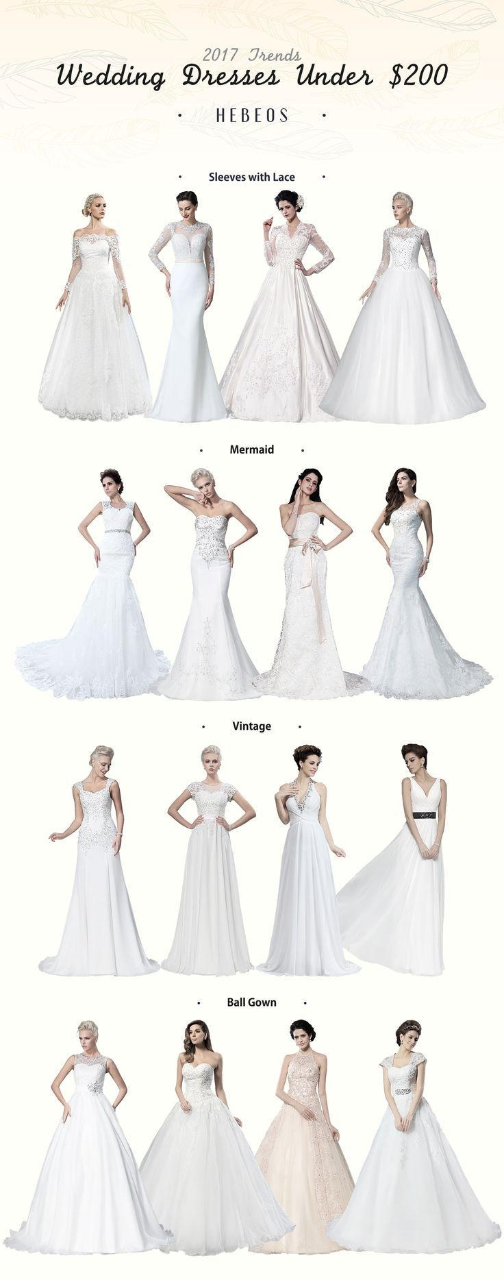 Cheap #Wedding Dresses & Gowns On Sale! Choose your favorite #Hebeos design!