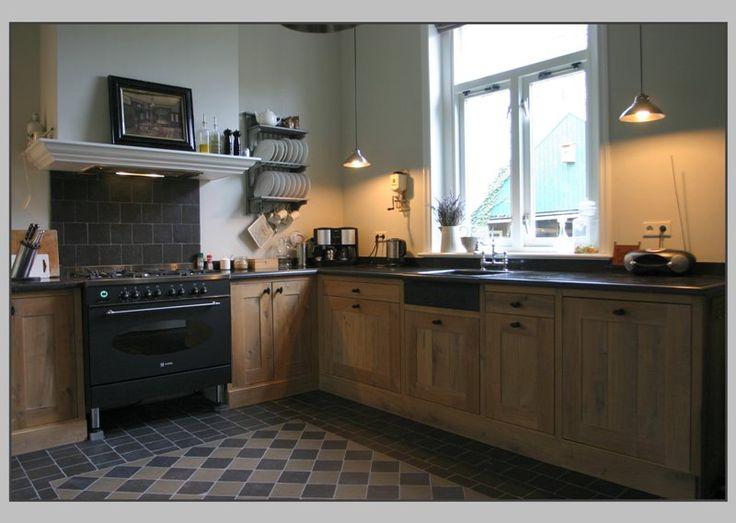 Landelijke authentieke vloer keuken landelijke stijl ht 3 pinterest html - Oude stijl keuken wastafel ...