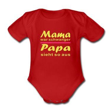 Coole T-Shirts bei www.babyshirty.de gestaltenBaby Body, rot.