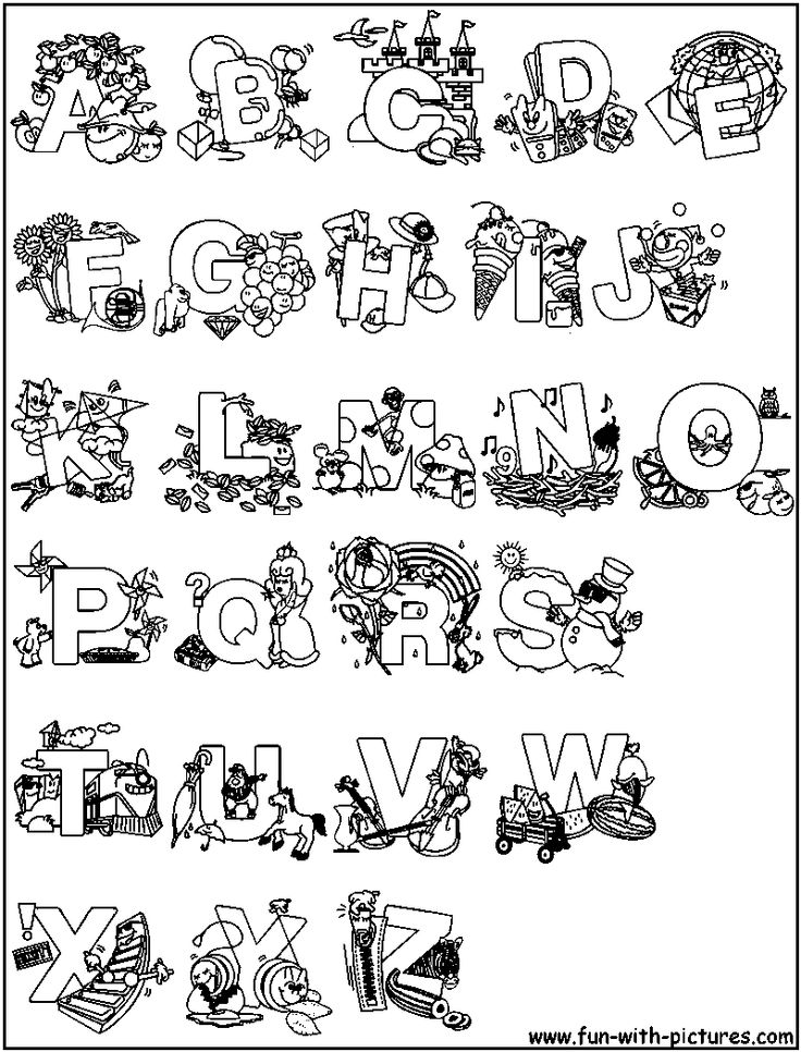 Play Alphabet Coloring Picture