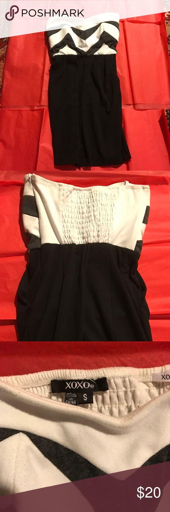 XOXO BLACK n white tube top dress Size small. Worn once. Very small dress XOXO Dresses Mini