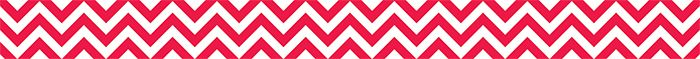 New Chevron Collection. Poppy Red Chevron Border