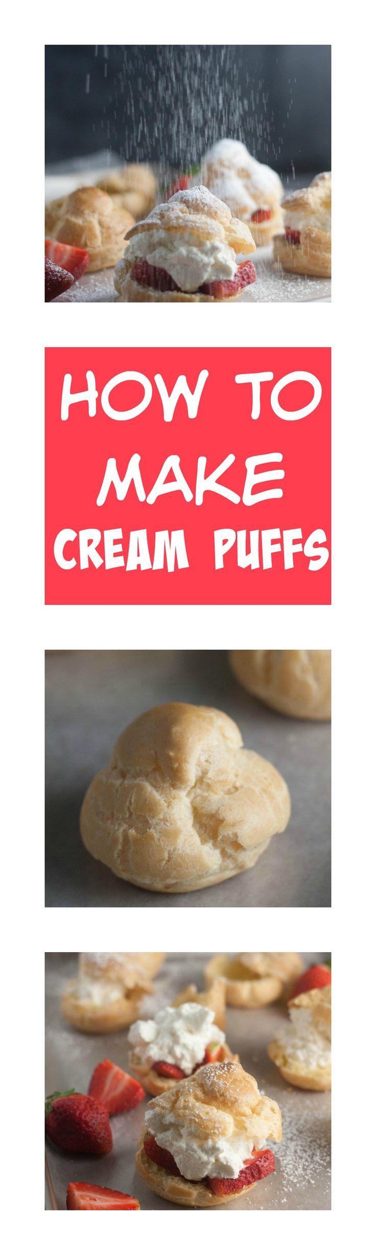 Learn how to make cream puffs with this step by step photo tutorial! These are so easy to make you will wonder why you don't make them more often!