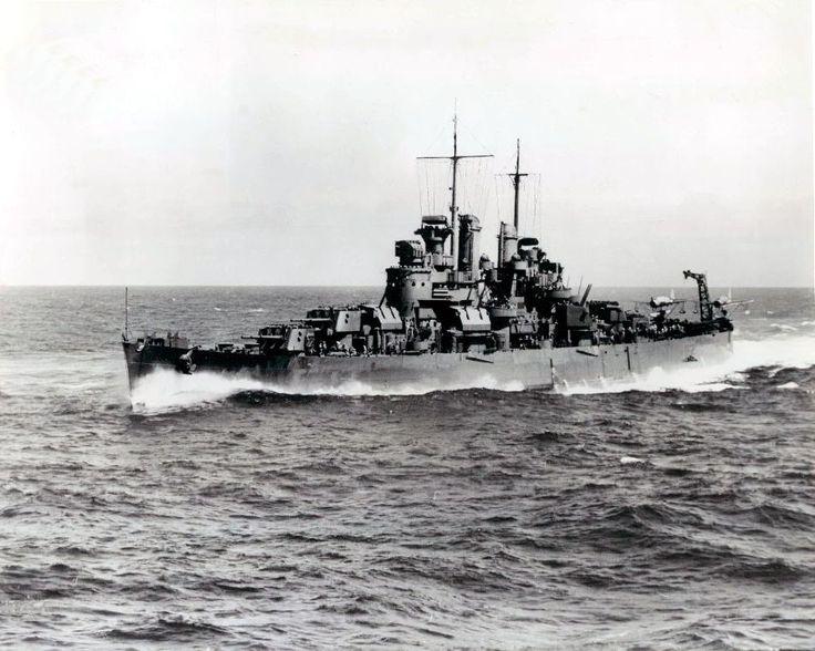 "supermarketsecurity: "" USS Denver (CL-58) underway, October 1944 """