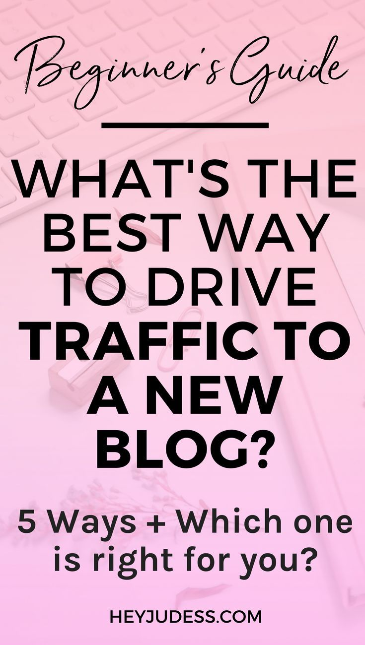 Have you been considering a few ways to drive traffic to your blog? In this article, I talk about the best way to drive blog traffic! | #heyjudess #bloggingforbeginners #bloggingtips #pinterestmarketing