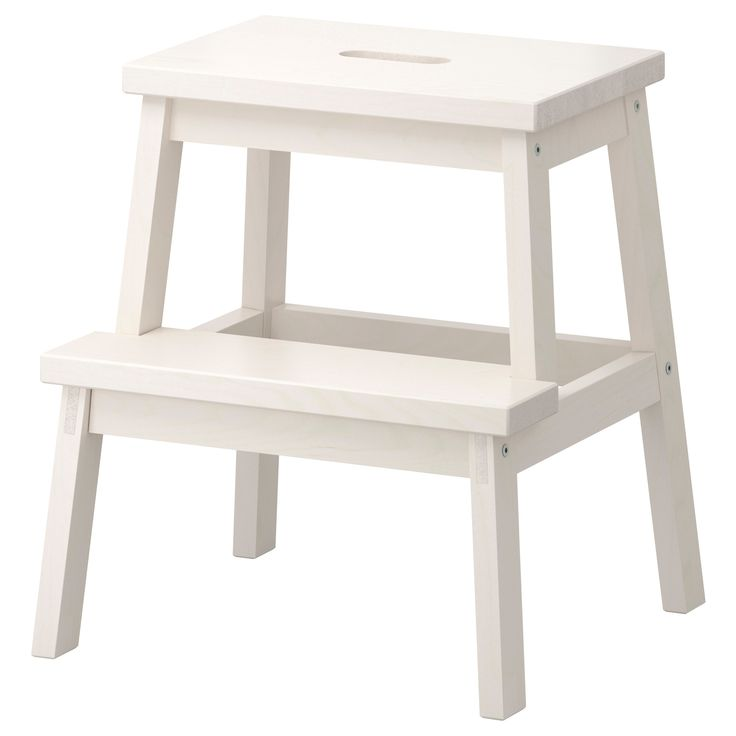 Solid wood, a hardwearing natural material. Hand-hole in the top step makes the step stool easy to move.