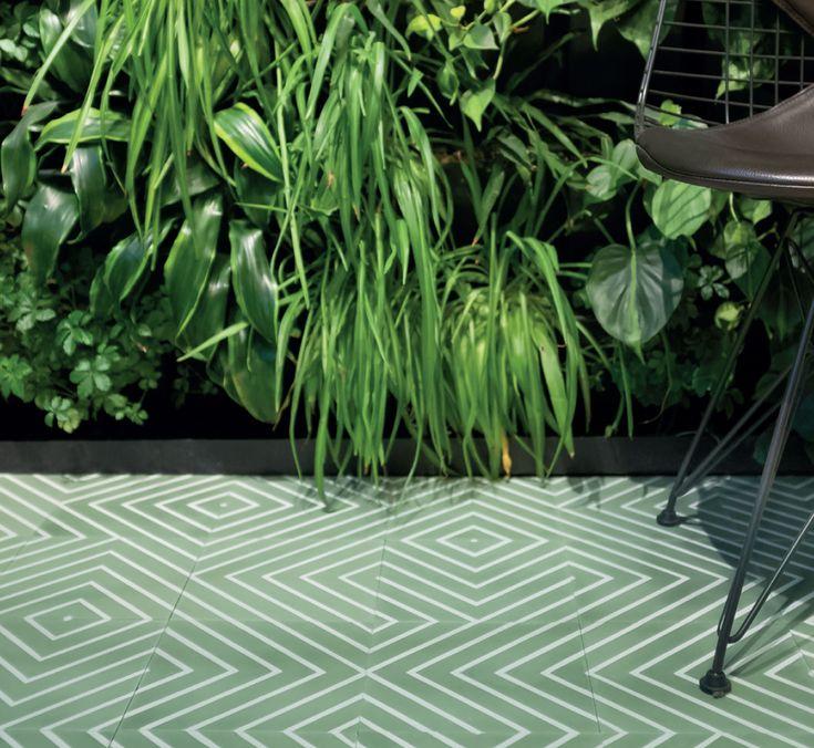Tør du gå for grønt? Med de håndlagde flisene fra Ulfven får du et unikt gulv med mye personlighet.