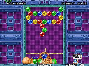 Play Puzzle Bobble Bust A Move for free at www.Arcader.com