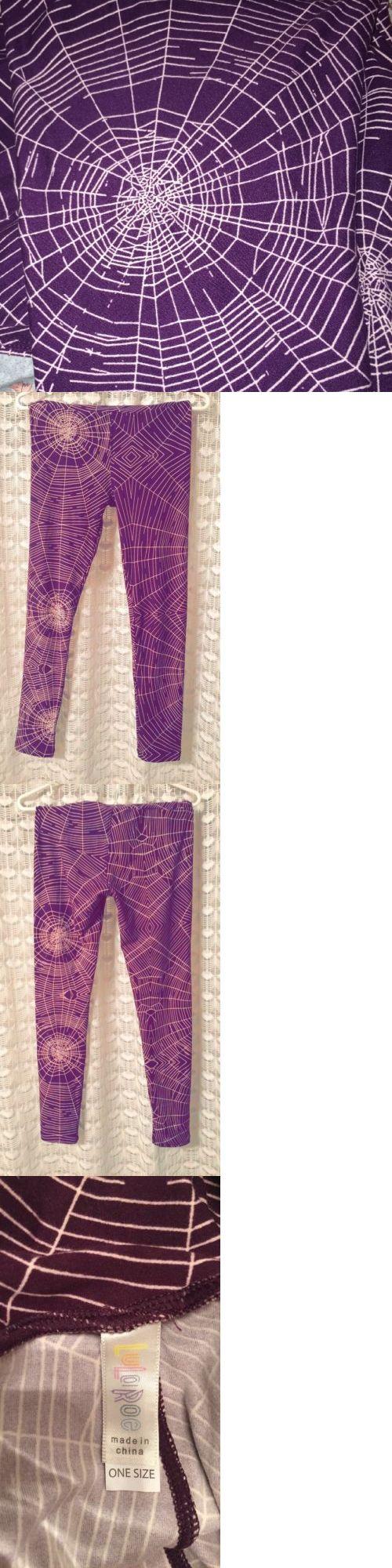 Women Leggings: **New** Lularoe Leggings - Os - Purple White Spider Web Halloween - Unicorn! -> BUY IT NOW ONLY: $99.99 on eBay!