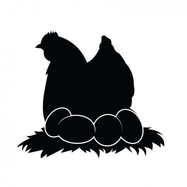 Silhouettes Of Hen Chicken Chickens And Eggs Isolated On White Background White Icons Chicken Icons Background Icons Png And Vector With Transparent Backgrou Chicken Icon Rooster Silhouette Hen Chicken