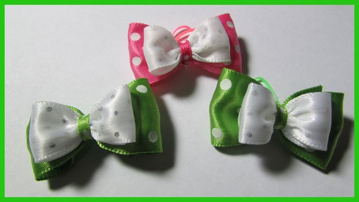 DIY- Dog Hair Bows No.1 - Simple hair bows for dogs - Tuxedo Hair Bows -...