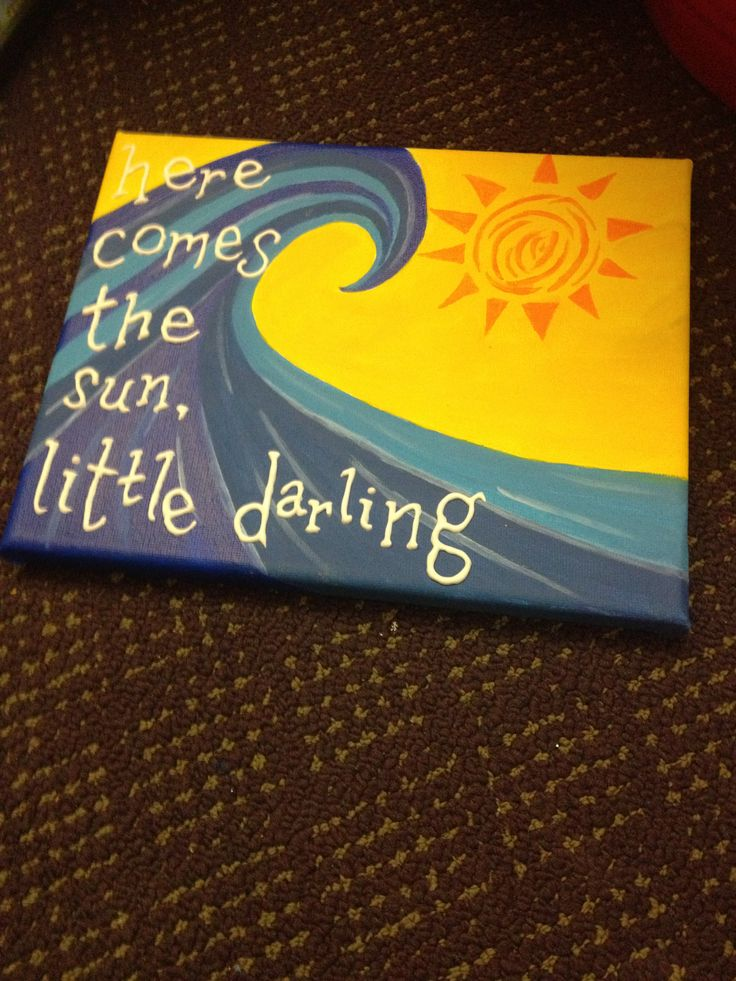Here comes the sun- the Beatles  Crafting adventure!!