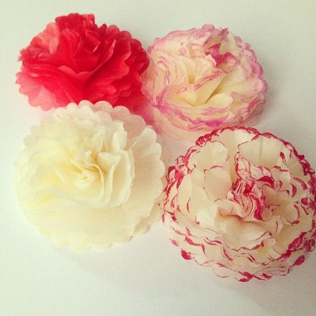 These are easy to make, and we could bring purple tissue paper with us. They make a big splash for super cheap.