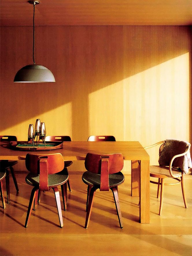chairs + pendant light