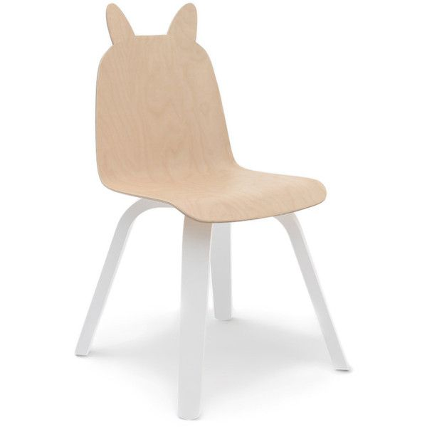 Oeuf Rabbit Play Chair - Set of 2 (4,495 MXN) ❤ liked on Polyvore featuring home, children's room, children's furniture and beige