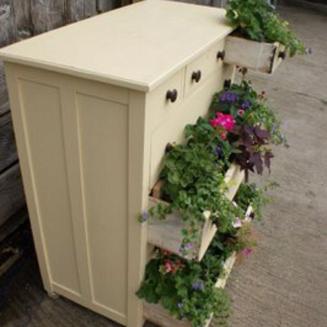 Dresser planter box ideas