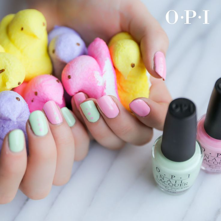 Pretty pastel nail art for #Easter. #OPIHawaii