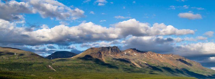 Some mountains near Skibotn, Norway