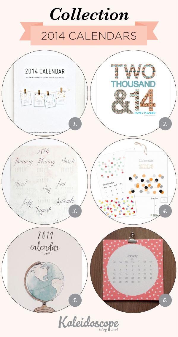 Pretty calendars to organize your 2014. Can you spot our Calendar Garland? via Kaleidoscope Blog #calendar #2014 #madeinaustralia #stationery #gloriousmess