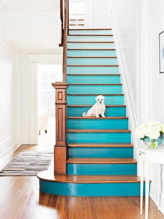Add a pop of color to your stairs
