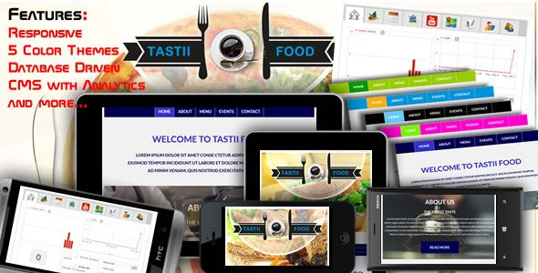 Tasti Food - Complete Food Website with Backend CMS and Analytics - http://www.codegrape.com/item/tasti-food-complete-food-website-with-backend-cms-and-analytics/7880