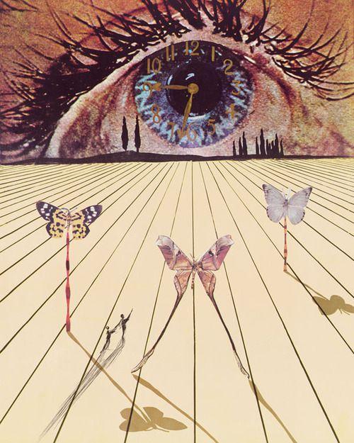 """"""" The Eye of Surrealist Time, Salvador Dali, 1971 """""""