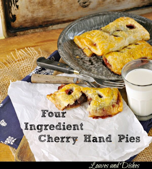 Simple Cherry Hand pies - only a few ingredients. Cherry Hand Pies @ ...