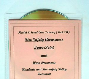 Fire Safety Awareness teaching, training resources for health and safety. Includes presentation, printable certificate and printable policy document. For induction, annual and refresher training.