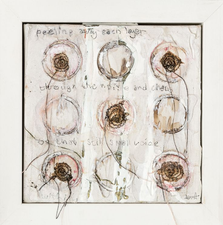 Still Small Voice Mixed Media on Canvas Tess Ainley