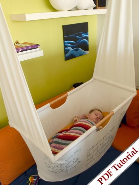 Hanging crib... Doing this for any little ones to come