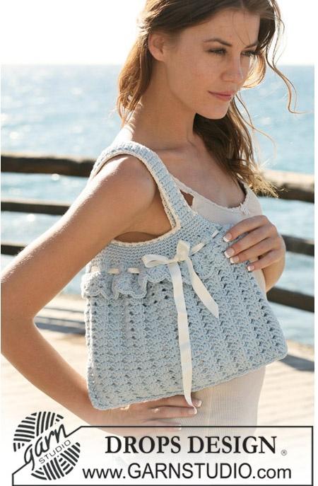 Crochet bag, free DROPS Design