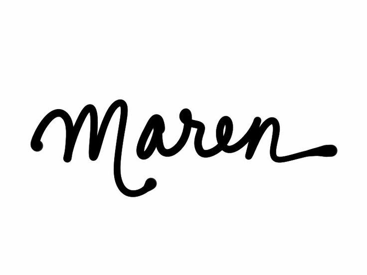 """Maren. """"Of the sea."""""""