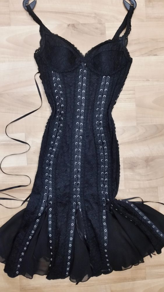 Catwalk Collection London. Lace Corset Femme Fatale hourglass dress  | eBay